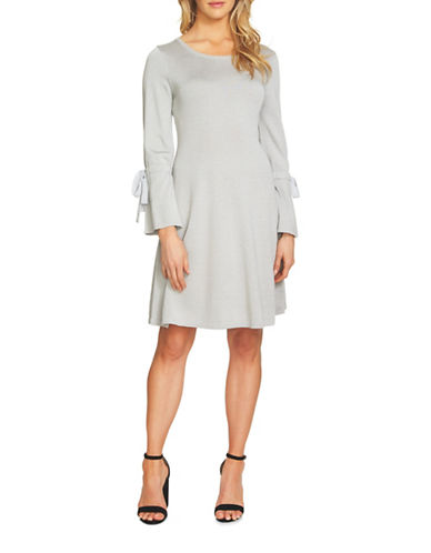 Cece Bell Sleeve Shift Dress-GREY-Large