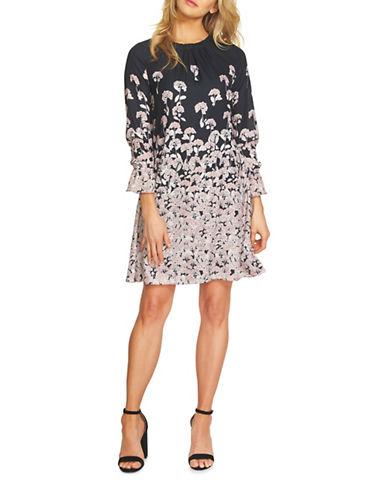 Cece Floral Knee-Length Dress-BLACK MULTI-8