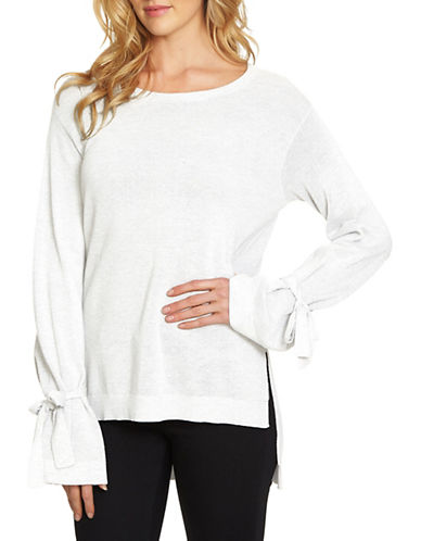 1 State Roundneck Hi-Lo Sweater-NATURAL-Small