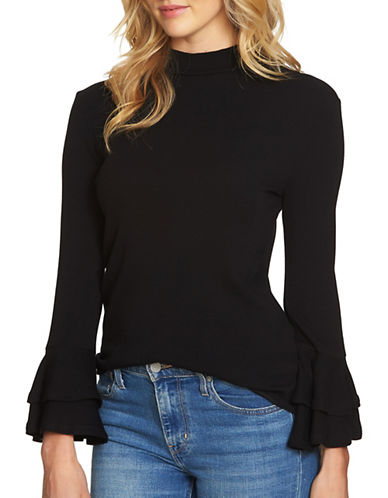 1 State Pull-On Mockneck Top-BLACK-X-Small