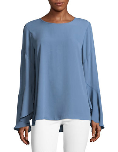 Vince Camuto Flare Sleeve Blouse-BLUE-X-Small