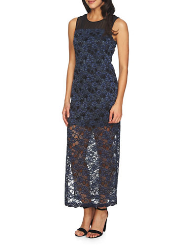 Cynthia Steffe Mary Lace Sleeveless Maxi Dress-NAVY-4