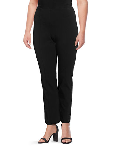 Vince Camuto Plus Plus Front Seam Pants-RICH BLACK-20W