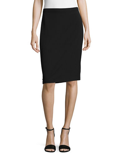 Vince Camuto Ponte Stretch-Fit Pencil Skirt-BLACK-X-Small