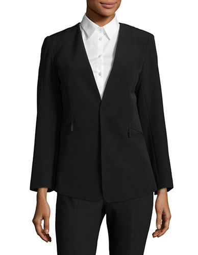 Vince Camuto Zip-Pocket Blazer-BLACK-2