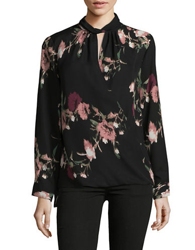 Vince Camuto Wrap Front Blouse-RED MULTI-Small