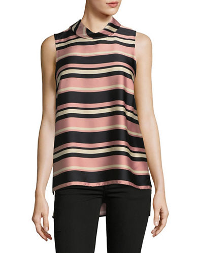 Vince Camuto Modern Chords Roll Neck Tunic-ROSE MULTI-Medium