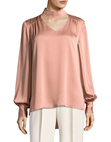 Vince Camuto Choker Neck Blouse-ROSE-X-Small