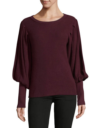 Vince Camuto Bubble Drama Sweater-DEEP CLARET-Large