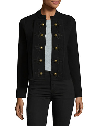 Vince Camuto Military Sweater Jacket-BLACK-Large