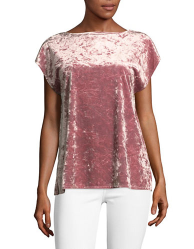 Vince Camuto Crushed Velvet Blouse-ROSE-X-Large