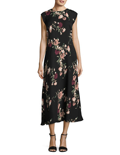 Vince Camuto Windswept Maxi Dress-RED MULTI-6