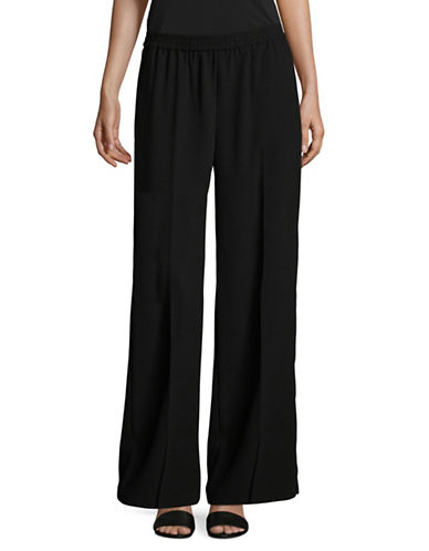 Vince Camuto Matte Crepe Wide-Leg Pants-BLACK-Medium