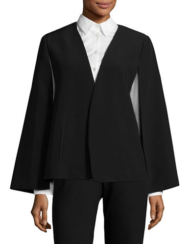 Vince Camuto Milano Twill Cape Jacket-BLACK-12