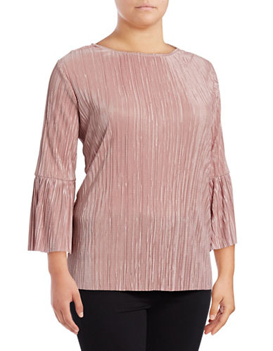 Vince Camuto Plus Plus Bell Sleeve Blouse-PINK-3X