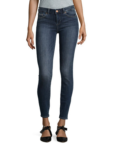 Two By Vince Camuto Indigo Five-Pocket Skinny Jeans-MID VINTAGE-28