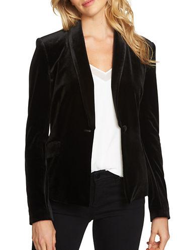 1 State Velvet Tuxedo Blazer-BLACK-2