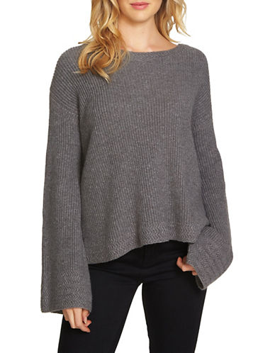 1 State Bell Sleeve Sweater-GREY-Small