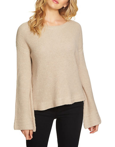 1 State Bell Sleeve Sweater-BROWN-Large
