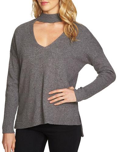 1 State Choker Sweater-GREY-X-Small