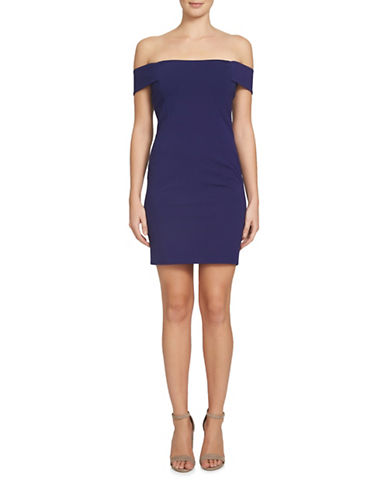 Cynthia Steffe Margot Off-Shoulder Bodycon Dress-BLUE-8