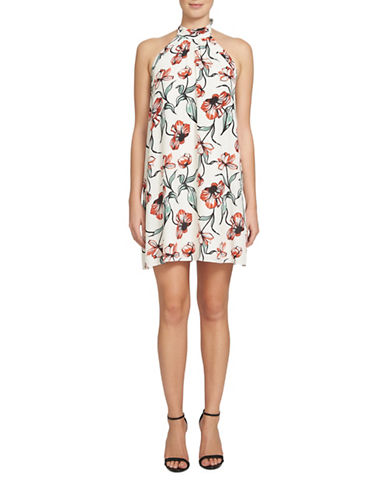 Cece Monte Floral Halter Neck Dress-MULTI-12