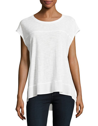 Two By Vince Camuto Mix Media Tee-WHITE-X-Small 89028804_WHITE_X-Small