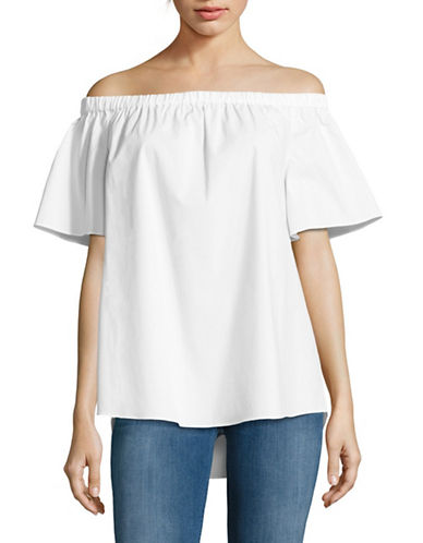 Vince Camuto Off-the-Shoulder Blouse-WHITE-Small