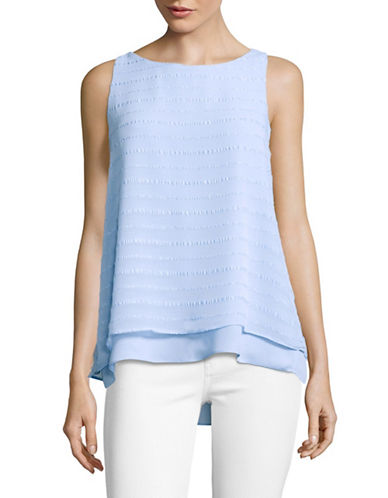 Vince Camuto Embroidered Stripe Layered Top-BLUE-Small 89167556_BLUE_Small