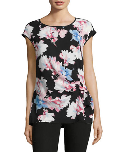 Vince Camuto Bouquet Tie Front Top-BLACK-X-Small 89167488_BLACK_X-Small