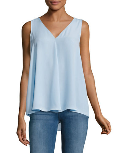 Vince Camuto Draped Shell Top-BLUE-Small 89167486_BLUE_Small