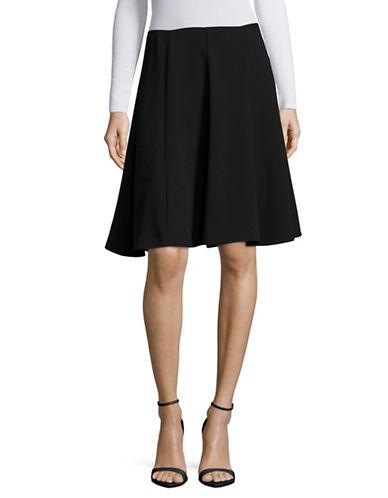 Cece Crepe Flounce Skirt-GREY-14