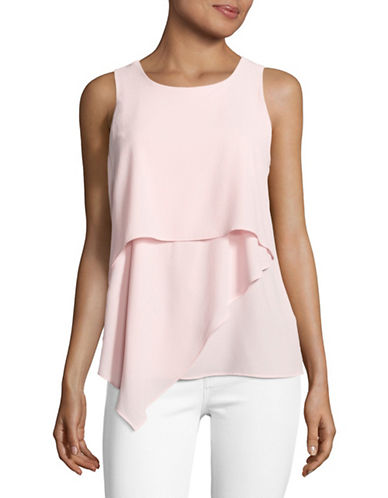 Vince Camuto Sleeveless Asymmetrical Layered Top-PINK-Small 89112974_PINK_Small