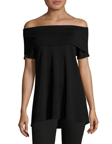 Vince Camuto Off-The-Shoulder Sweater-GREY-Small