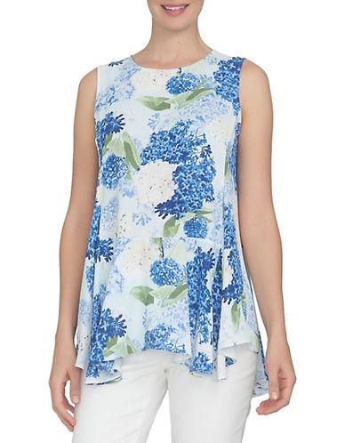Cece Hydrangea Handkerchief Hem Top-BLUE-Large 89073163_BLUE_Large