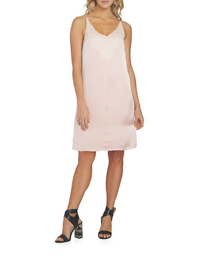1 State Lace Slip Dress-PINK-Small