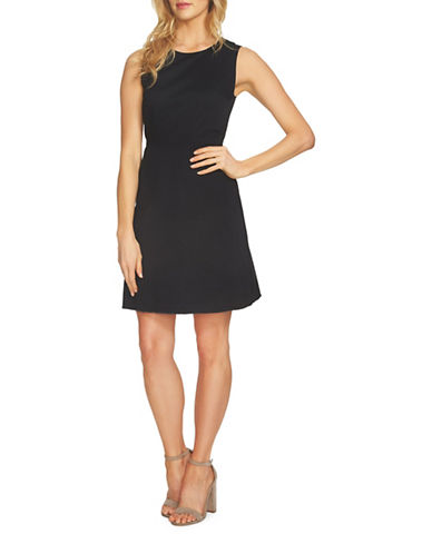 1 State Raw Hem Sheath Dress-BLACK-10