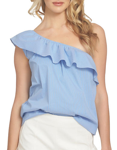 1 State One-Shoulder Striped Ruffle Top-BLUE-Large 89182971_BLUE_Large