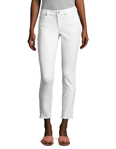 Two By Vince Camuto Frayed Hem Cropped Jeans-WHITE-30