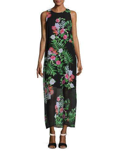 Vince Camuto Havan Tropical Maxi Dress-BLACK MULTI-Medium