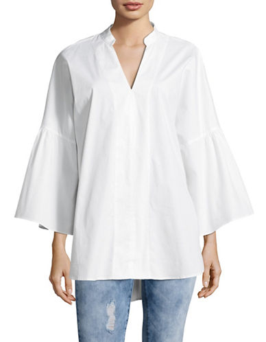 Vince Camuto Bell Sleeve Tunic-WHITE-X-Small