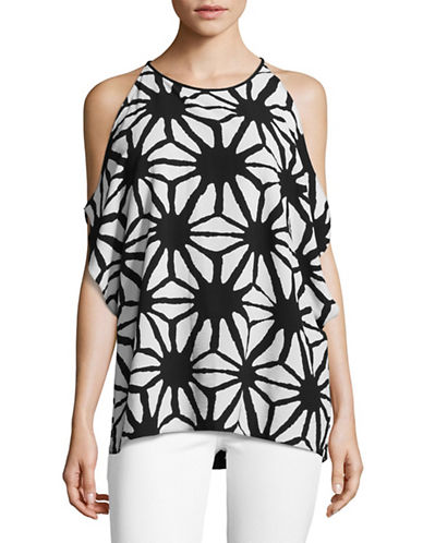 Vince Camuto Starlight Cold Shoulder Top-BLACK MULTI-X-Small