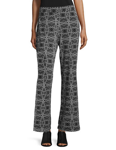 Vince Camuto Printed Stretch Pants-BLACK MULTI-Small