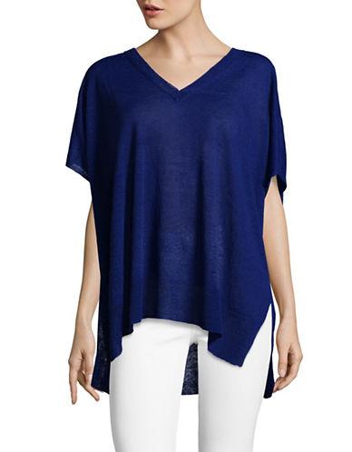 Vince Camuto Linen Blend Sweater-BLUE-Medium