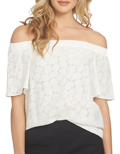 1 State Off-Shoulder Flounce Sleeve Blouse-WHITE-Medium 89217687_WHITE_Medium