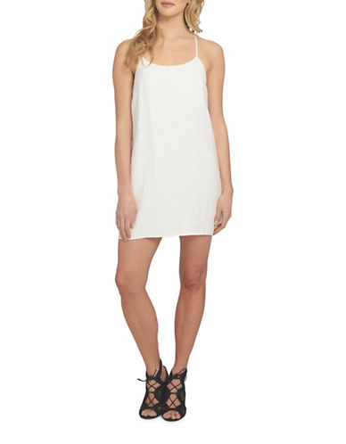 1 State Racerback Shift Dress-WHITE-Medium