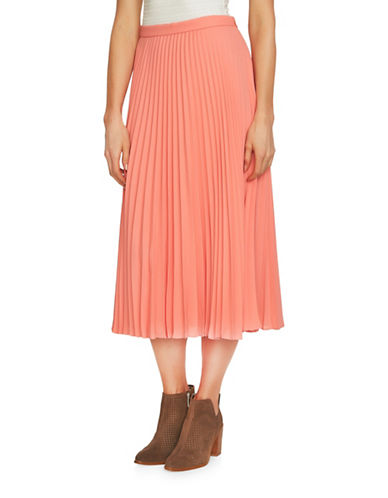 1 State Pleated Midi Skirt-ORANGE-4