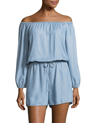 Two By Vince Camuto Off-Shoulder Tencel Romper-VINTAGE-X-Small