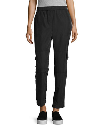 Vince Camuto Slim Leg Cargo Pants-BLACK-X-Large