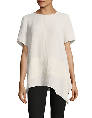 Vince Camuto Short-Sleeved Blouse-GREY-X-Small